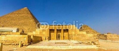 "Alu-Dibond-Bild 160 x 70 cm: ""The entrance of the mastaba of Seshemnufer IV in Giza - Egypt"", Bild auf Alu-Dibond"