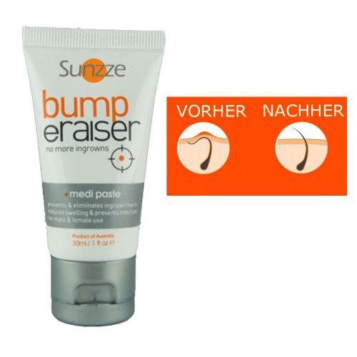 Bump Eraiser Medipaste 30ml Wissenschaftlich entwickelt, schützt vor eingewachsenen Haaren und Pickeln im Intimbereich nach der Intimrasur -oder enthaarung mit Warmwachs oder mit Zuckerpaste