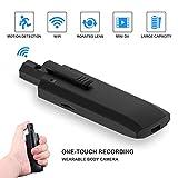 Mini WiFi Body Camera, Wireless Hidden Spy camera Wearable pen header home security