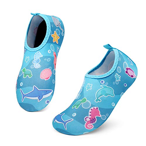 UBFEN Kinder Badeschuhe Wasserschuhe Aquaschuhe Barfußschuhe Schwimmschuhe Strandschuhe Schnell Trocknend Surfschuhe Pool Yoga für Jungen Mädchen Baby