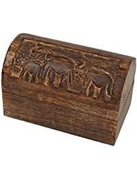 Regalo Día de la Madre Unico Bigiotteria in legno fatto a mano Keepsake Storage Box Organizzatore co...