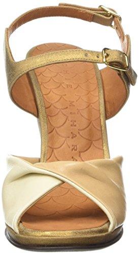 Chie Mihara Fira, Sandales Plateforme femme Beige - Beige (Taichi Nude/Taichi Leche)