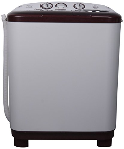 BPL 7.2 kg Semi-Automatic Top Loading Washing Machine (BSATL72N1, White and Maroon)