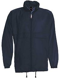 B&C Mens Sirocco The Windbreaker showerproof foldaway jacket