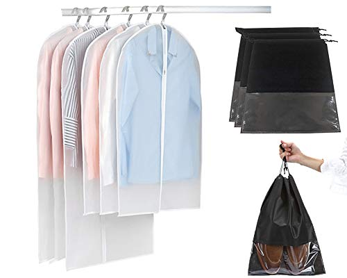 9 Stk. Kleidersack und Schuhbeutel Set : 120x60 cm + 100x60 cm Kleiders