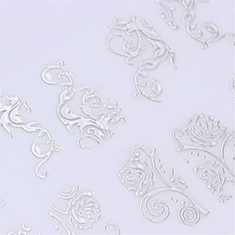 NICOLE DIARY 1 Big Sheet 3D Nail Stickers Multi Flower Patterns DIY Manicure Floral Self-adhesive Nail Art Tips Decoration