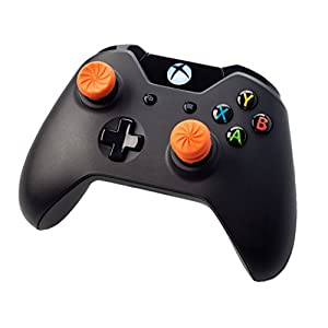 KontrolFreek FPS Freek Vortex für Xbox One Controller | Performance Thumbsticks | 1 x Hoch Konvex, 1 x Mittel Konkav | Orange