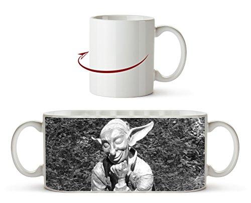 lustige Koboldstatur Effekt: Schwarz/Weiß als Motivetasse 300ml, aus Keramik weiß, wunderbar als...