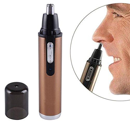 SPORTSMAN Tondeuse electrique detachable de nez de tete rechargeable d'acier inoxydable