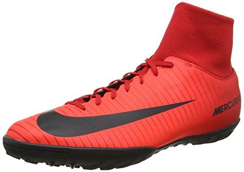 Nike mercurialx victory vi df tf, scarpe da calcio uomo, (university rosso/nero/bright crimson 616), 44 eu
