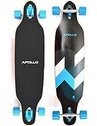 Apollo Longboard, édition spéciale, board complet avec roulements à billes ABEC haute vitesse y inclus jeu de clés en T, Drop Through, Freeride, Skate, Cruiser Boards