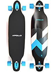 Apollo Longboard Matei Special Edition Tabla Completa con rodamiento de bolas High Speed ABEC incl. Skate T-Tool, Drop Through Freeride Skate Cruiser Boards