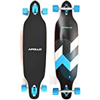 Apollo Longboard Special Edition Komplettboard inkl. T-Tool, mit High Speed ABEC Kugellagern, Drop-Through Freeride Skaten Cruiser Boards