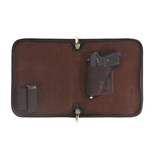 Tourbon Leinwand und Leder Pistolen Pistole Tasche Teppich - Schwere Pistole Fall