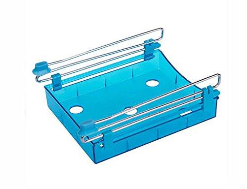 Cosanter Kühlschrank Schublade Organizer Space Saver Regal Halterung,Kühlschrank Storage Rack,Kunststoff(Blau)