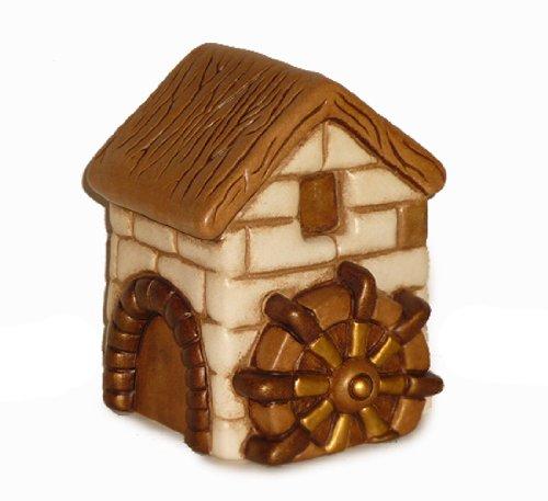 Thun presepe classico mulino, ceramica, variopinto