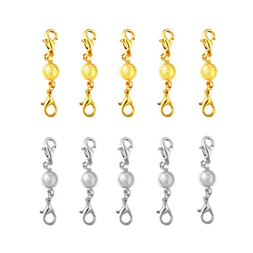 ROSENICE Magnetic Lobster Clasps Connectors for Jewellery Necklace Bracelet 10pcs