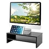 RFIVER TAVR Supporto per Monitor di Legno,tavolino pc,Colore:Nero CM1002