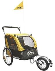 M-Wave Gepäck und Jogging Fahrradanhänger Wagen Carry All 3 In 1, gelb