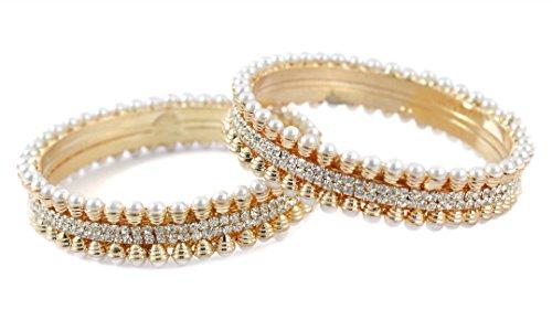 Bollywood Fashion Faux Perlen indischen Armreifen Traditionelle Partywear Schmuck