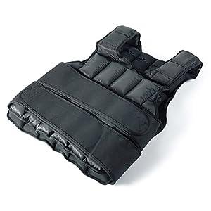 Gewichtsweste Jalano Trainingsweste Laufweste Schwarz – Verstellbare Fitnessweste wahlweise mit 15 kg oder 20 kg Gewicht Kraft-Ausdauer Weste