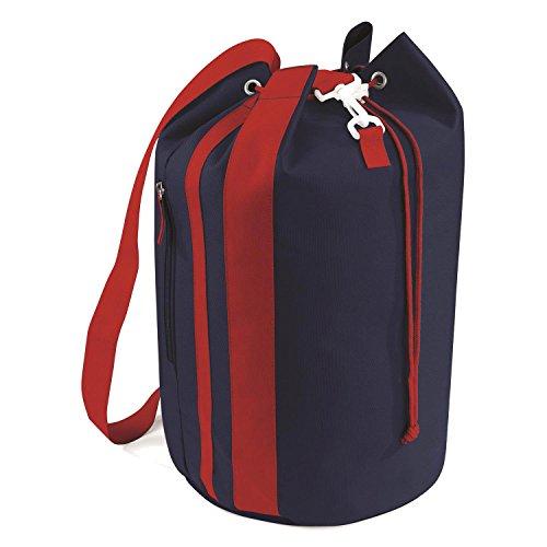 BagBase Pacific Borsone coulisse sacca da viaggio con tasca con zip laterale Blue - blu