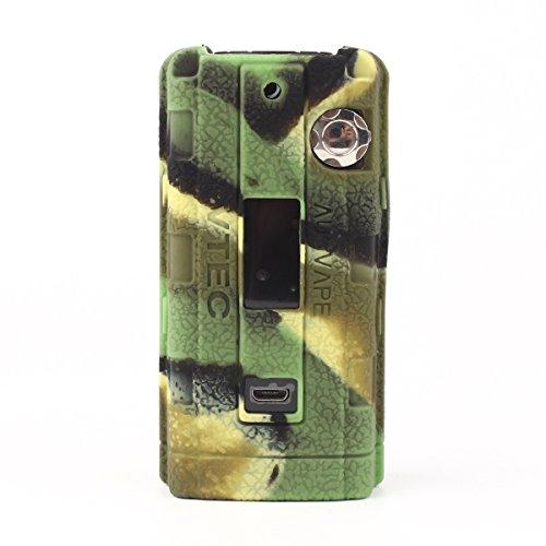 CEOKS Augvape vtec 200W Custodia silicone sigaretta elettronica, Cover case protegge il gel custodia protettiva in silicone per augvape vtec 200W tc Mod box antiscivolo non-slip - Camo