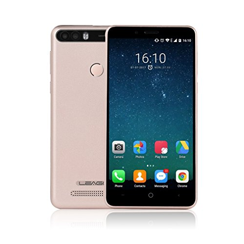 LEAGOO KIICAA POWER - 4000mAh Akku Smartphone mit Fingersensor, 5 Zoll Touch Display, Dual Kameras, Dual SIM + 1 TF Karte, 2GB RAM + 16GB ROM, Android 7.0 - golden