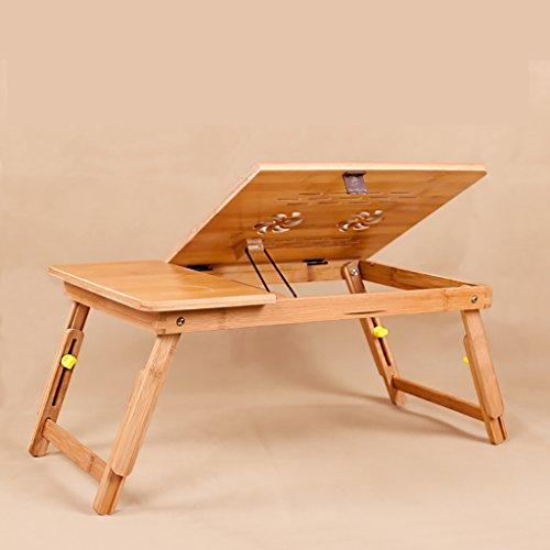 Tragbare Bambus Notebook Stand Klapptisch Notebook Tisch Bett Notebook Tray Bett Tisch Ohne Schublade (Größe : 50 * 34 * 27CM)
