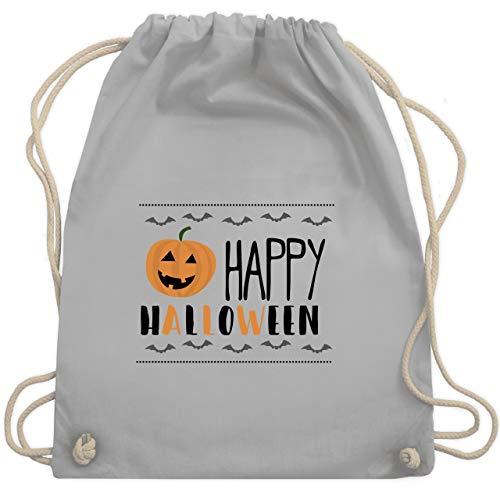 Halloween - Happy Halloween Kürbis - Unisize - Hellgrau - WM110 - Turnbeutel & Gym Bag (Halloween Kostüme Ideen Für Kids 2019)