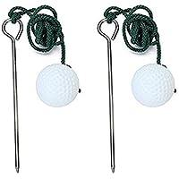 winomo 2pcs Golf Driving Range pelota Entrenamiento Práctica ayuda accesorios