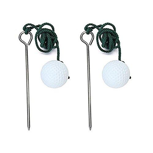 winomo 2pcs Golf Practice Balle d'entraînement pratique aide Accessoires