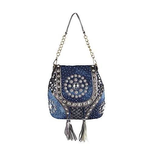 OBC Only-Beautiful-Couture , Borsa Messenger  blu blu/grigio ca.: 39x28x18 cm (BxHxT) blu/grigio