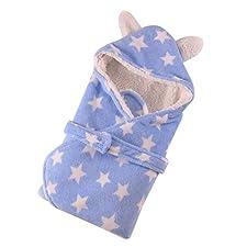 Happy Cherry Neugeborene Baby Wickeldecke Swaddle Fleece Wrap Decke Kapuzen Schlafsack Weiche Warme Pucktuch Buggy Wickeln für Herbst Winter