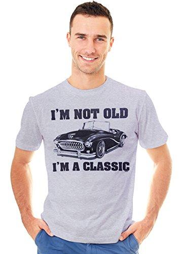 Retreez T-Shirt mit Aufdruck I'm Not Old I'm A Classic Car - Grau - Groß