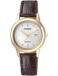 Citizen Damen-Armbanduhr Analog Quarz Leder FE1083-02A