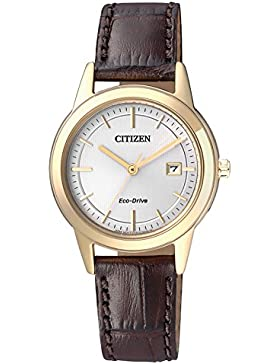 Citizen Damen-Armbanduhr Analog Quarz Leder FE1083-02A