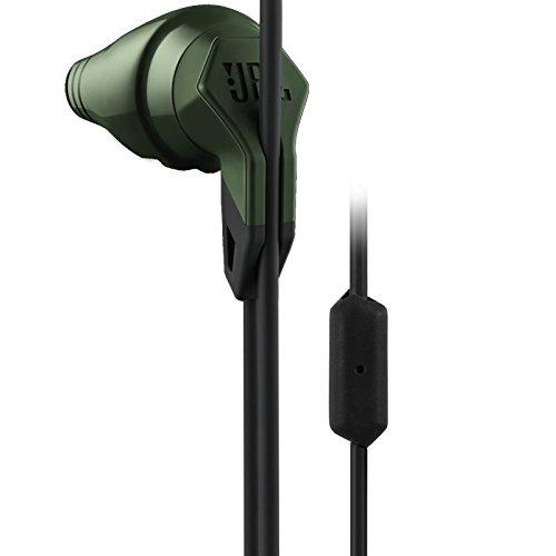 JBL Grip 200 In-Ear Action Sport-Ohrhörer Schweißbeständig mit 1-Tasten-Fernbedienung/Mikrofon Kompatibel mit Android/iOS Smartphones und Tablets - Olivgrün