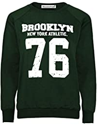 Neue Frauen Plus Size 76 Brooklyn Gedruckt Sweatshirts Jumper Tops 36-50