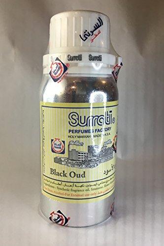 Surrati Parfüms Black Oudh, konzentriertes Parfüm-Öl Rosenöl/Ittar mit Aoud-Note