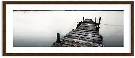 Quadro in Cornice di Legno di Coloreee wenge - Quadro Cornice in Cornice Quadro - Quadro su Tela - 120x50cm - Numero dell'immagine 0487 - Pronto da Appendere - Completamente incorniciato - F1MAB120x50-0487 634cbe