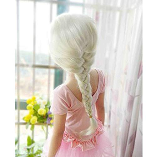 MARCU Home Perücke Cosplay Cosplay Perücke Gefrorene Puppe ELSA Anna Schnee Prinzessin Serie Anime Blonde Haare Mädchen (Elsa Diy-anna Und Kostüme)