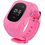 Sampi Apple IPhone 7 Plus Compatible Q50 Smart Watch For Kids Children Wrist Watch With Anti-lost, GPS Tracker, SOS Call, Location Finder, Remote Monitor, Pedometer Functions, Parent Control By IPhone And Android Smartphones (Pink)