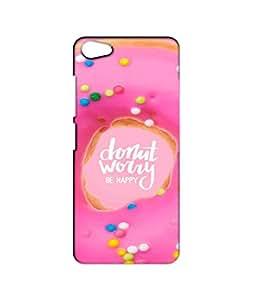 Nimbu Mirchi Designs Designer Printed case mobile back cover for VIVO V5 / VIVO V5 Case Cover (donut worry be happy)