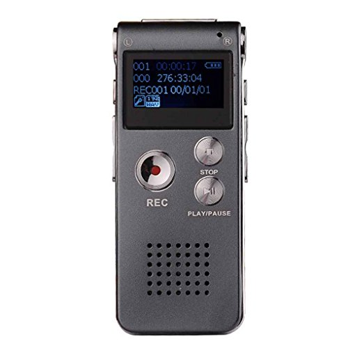Morza Wiederaufladbare Digital Audio Voice Recorder Diktiergerät Telefon MP3-Player (Voice Telefon Recorder)