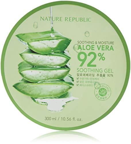 Nature Republic New Soothing Moisture Aloe Vear GEL 92{bc2a233eb1db486ff7fcd49bde76b4cc85df6394a0b8204374c85afc8d935df3} 300ml Korean Cosmetics by Night Plaza