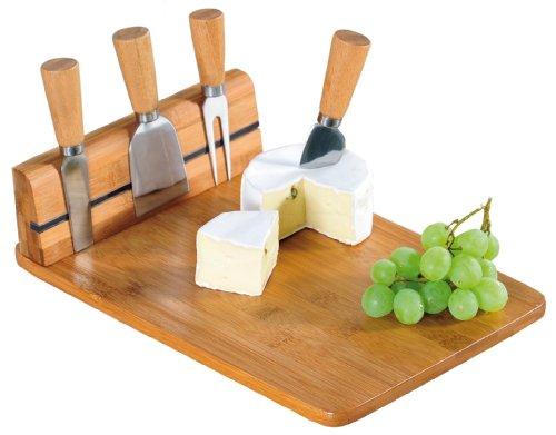 Prova ora il Tagliere di Bamboo per formaggi con Accessori (5 pezzi)! Lo amerai! Il set include 1 tagliere per formaggi con piedini anti-scivolo e un vano magnetico per riporre i 4 coltellini. Ogni coltello ha una forma differete. Il tagliere (appros...
