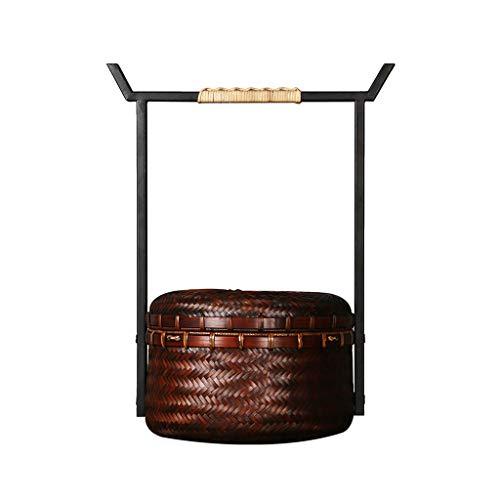 Chinesischen Stil Bambus Picknickkörbe Retro Schmiedeeisen Picknickkörbe Tragbare...