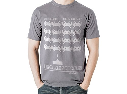 Space Invaders Adults Retro T-Shirt, 10 Colours – Sizes S – XXL