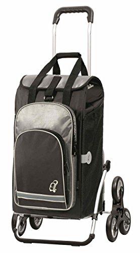 Andersen Shopper Royal Treppensteiger und 60 Liter Einkaufstasche Hydro schwarz mit Kühlfach